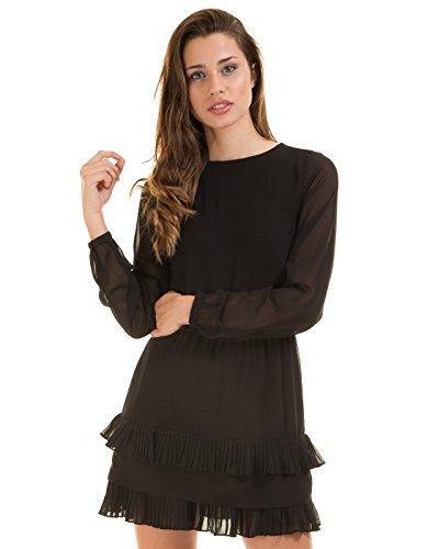 Short ruffle dress VMFREYA by Vero Moda Nero