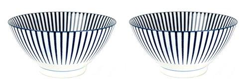 Soba Suppenschüssel Set TOKUSA Suppenschale hergestellt in Japan Schüssel Ø 18, H. 9 cm groß