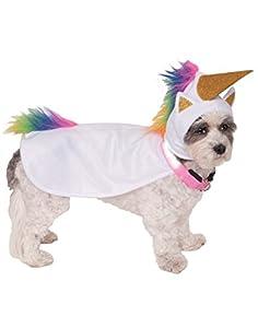 Rubies RUBIS fantaisie Company Licorne Cape avec capuche et collier lumineux pour animal domestique Costume