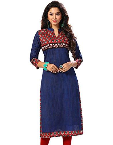 Jevi Prints Women's Cotton Dress Material (Saheli-1523_Free Size_Blue)