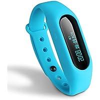 Activity Tracker Toprime braccialetto intelligente promemoria chiamata in arrivo passi/Distanza/Calorie per Android e iOS Telefono, Pdm 1106, Sky Blue