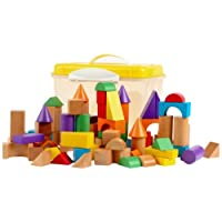 Tidlo Wooden Blocks In A Tub (100 Pieces)