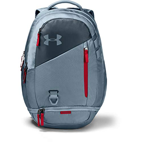 Under Armour Unisex-Erwachsene Hustle 4.0 Backpack Rucksack, 013/Ash Gray, One Size Fits All - Grau Ash Finish