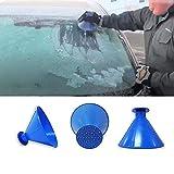 TAOtTAO Scrape A Round Magic Kegel Form Windschutzscheibe Eiskratzer Schneeschaufel Werkzeug, blau