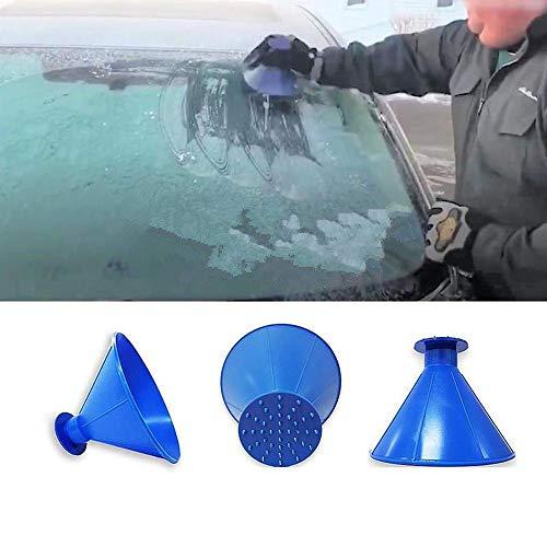 r Auto Windschild Messigschaber Auto Schneeräumung Scraper Schaufel Fensterreinigungs Defroster Windschutzscheibe schneebesen Round Magic Cone-Shaped Ice Scraper Werkzeug (BU) ()
