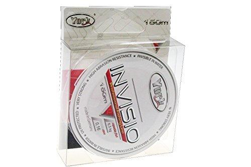 Angelschnur YORK INVISIO 150m Spule 0,14mm-0,40mm Monofile Schnur Fluorocarbon beschichtet (0,02€/m) (0,16mm/6,5kg)