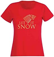 Official Merchandise Game of Thrones Let It Snow Red Womens T Shirt (S)