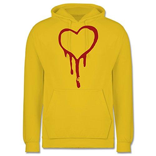Symbole - Blutendes Herz - bloody heart - Männer Premium Kapuzenpullover / Hoodie Gelb