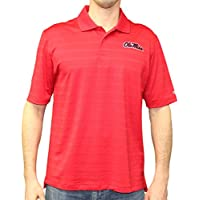 """Mississippi Ole Miss Rebels NCAA Champion """"Trophy"""" Men's Textured Polo Shirt"""