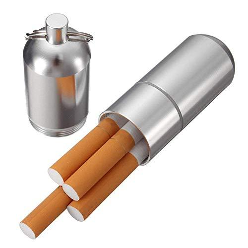 TrifyCore Mini Zigarettenetui aus Aluminium Halterung mit Schlüsselanhänger für Männer Wasserdicht Tasche Rund Zigaretten Box Aluminium-mini-box