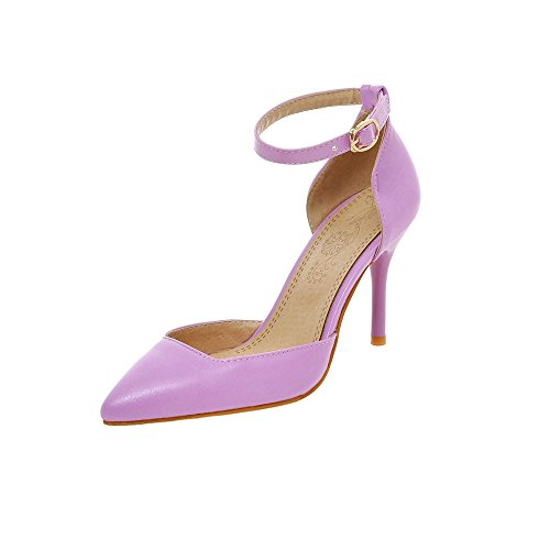 Nelly Shoes Stelle, Schuhe, Absatzschuhe, Stilettos, Grau, Lila, Silber, Female, 36