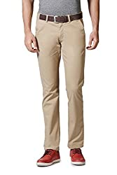 Allen Solly Mens Formal Trousers (8907467956739_AMTF516G00700_30W x 33L_Beige)