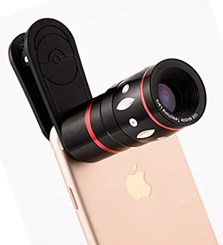 Telephoto Lens, TONVER Universal 10x Zoom Cell Phone Telescope Camera Lens Kit for iPhone 6 6s Plus 7 Galaxy s6 s7 s8 and More Smartphone and Tablet