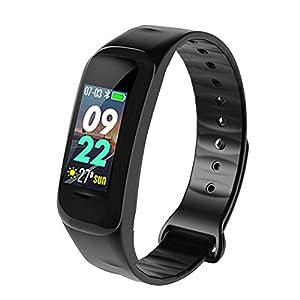 iYoung Pulsera Inteligente, Presión Arterial, Entrenamiento Físico, Monitoreo De La Frecuencia Cardíaca, Brazalete Deportivo para Android iOS Smart Band Fitness Tracker para iPhone Android HR 1