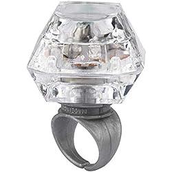 Aofocy Bagues à LED 1 Pack LED allument Diamant bagues Bling bagues à LED Lueur allument flashant Anneaux Diamant en Plastique