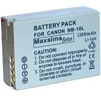 Maxim - Compatible NB-10L NB10L Battery for Canon POWERSHOT SX40 HS, 12 month warranty. By Maxim Foto Supplies