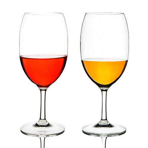 Michley bicchiere da vino 530 ml, set da 2, tritan-plastica bicchieri panciuti, grande calici vino plastica, lavabile in lavastoviglie