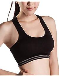 ZhuiKunA Sujetador Deportivo para Mujer Chaleco Deportivo Elástico (sin Costura, de Secado rápido,