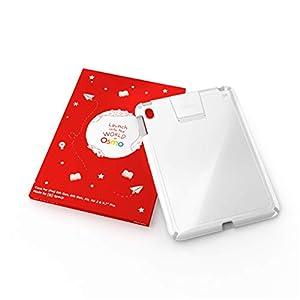 Osmo - Funda para iPad - Funciona con: iPad Air 2, iPad 5ª generación, iPad 6ª generación, iPad Pro 9.7 - Color de la Carcasa: Blanco con Ribete Gris