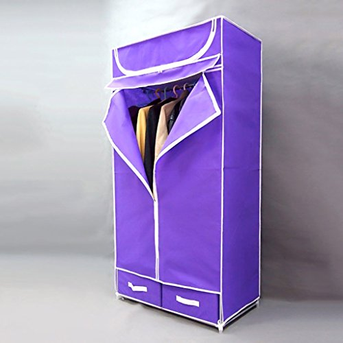 MMM& Armoire à penderie simple Penderie à suspendre Imperméable à la poussière Tissu non tissé Armoires simples Tissu à tiroirs Armoire à vêtements