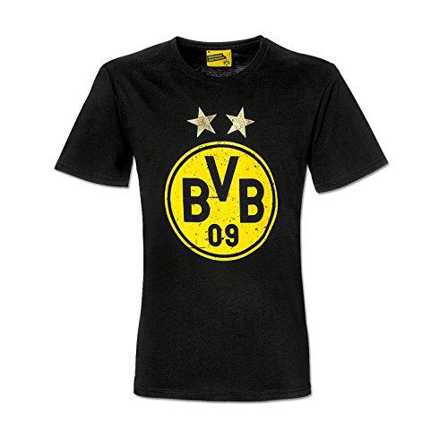 BVB Kinder T-Shirt Meisterschaftssterne, schwarz/gelb, 128, 2466417