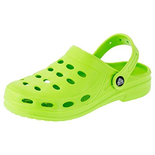 Damen Clogs Garten Schuhe Freizeit Pantoffel Strand Pool in Vielen Farben M194gn Grün 38 -