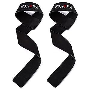 Zughilfen - Zughilfe - Lifting Straps aus Leder - Zug Hilfe fürs Kreuzheben u. Langhantelrudern - Zug Hilfen fürs Krafttraining - Bandagen fürs Bodybuilding - Fitnesshandschuhe - Fitnesszubehör - ATHLETIC AESTHETICS