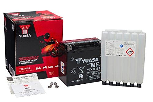Yuasa YTX14-BS - Batería con paquete de ácido, 12 V