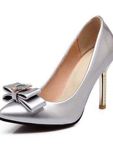 WSS 2016 Chaussures Femme-Bureau & Travail / Décontracté-Bleu / Rose / Argent-Talon Aiguille-Talons / Bout Pointu-Talons-Cuir Verni pink-us8 / eu39 / uk6 / cn39