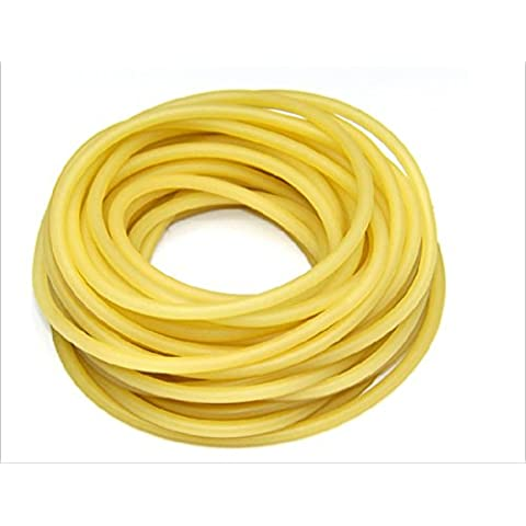 2 x 5 mm in gomma naturale Lattice Band per fionda catapulta caccia di ricambio 10 metri, Yellow