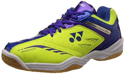 Yonex SHB 34JREX Badminton Shoes, Junior UK 3 (Yellow/Blue)