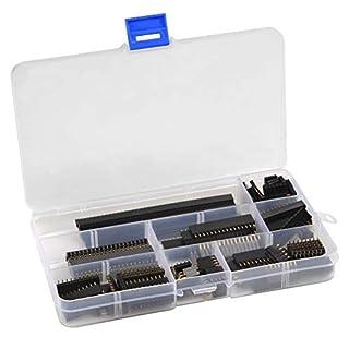 QLOUNI 120 Stück Buchsenleiste 2.54mm Einreihige Stiftleiste Weiblich Pin Header (4Pin-40Pin) für Arduino Stapelbarer Schild
