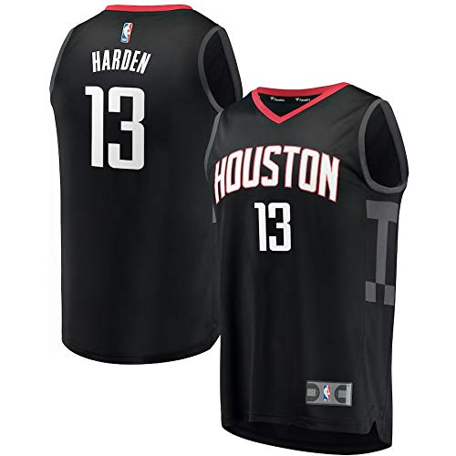 BMC NBA Houston Harden 13 Fan Jersey de Hombre Adulto (Negro, XL)