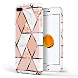 DOUJIAZ Coque en Silicone TPU Souple en Silicone pour iPhone 5 iPhone 5S iPhone Seed (Grille Marron doré) Rose Gold Grid