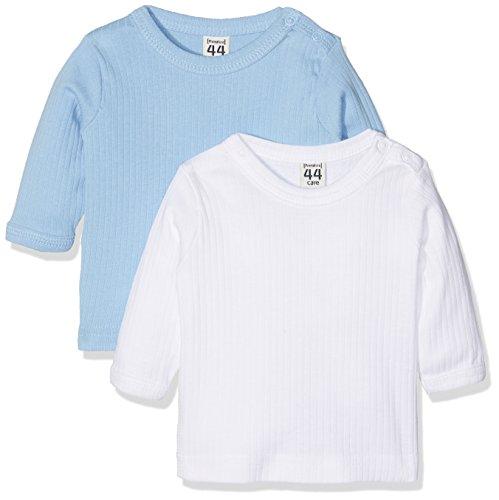 Care Baby-Jungen Langarmshirts Bio Baumwolle, 2er Pack, Blau (Lightblue 749), 68