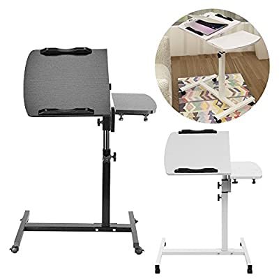 AllRight Laptop Tray Table Stand Laptop Table Adjustable Portable For Sofa Bed White/Black - cheap UK light shop.