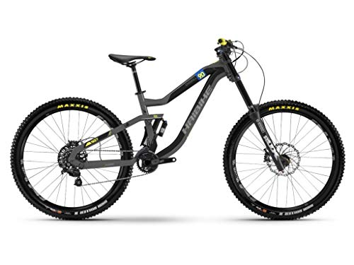 Haibike Mountain Bikes SEET Dwnhll 9.0 10-G Zee 18 HB Titanium/Yellow/Black matt Small