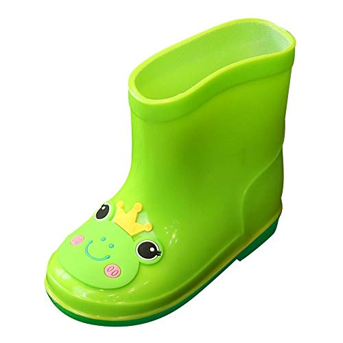 Girls Shoes, SHOBDW Children Toddler Infant Kids Baby Girls PVC Galoshes Cartoon Waterproof Rain Boots Boy Bright Boots Lovely Charming Soft Water Shoes