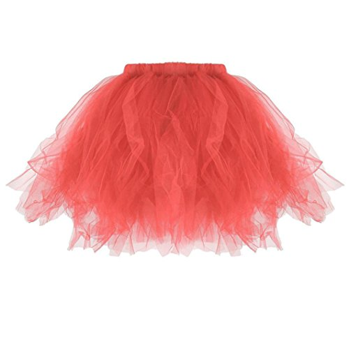 Kanpola Damen Plissee Tutu Erwachsenen Tutu Rock Plissee Mini Röcke (M /Gr 38, Watermelon - Leder-jacke-kostüm-ideen