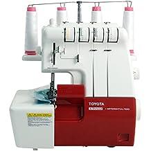 Toyota SLR4D - Máquina de coser overlock, velocidad de costura 1500 rpm, color rojo