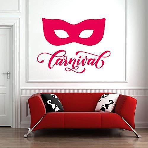 ganlanshu Wandaufkleber Vinyl wandaufkleber Wohnzimmer Schlafzimmer Dekoration Karneval Maske italienische Mode Dekoration 32 cm x 42 cm