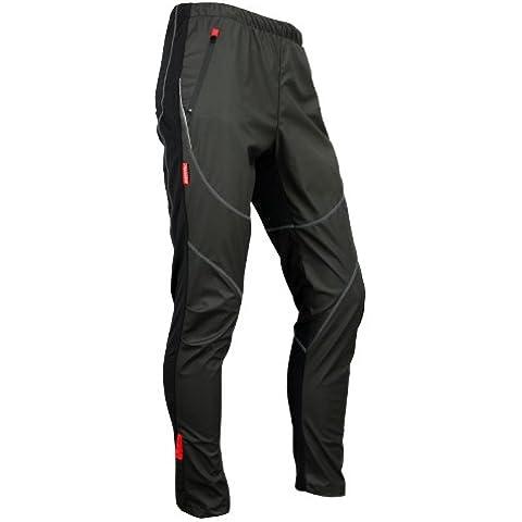 Santic Ciclismo Vello Termico Pantaloni Calzamaglia Inverno-James Nero