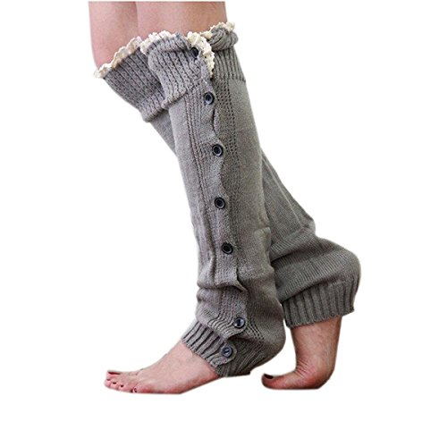 WINOMO Lady Leg Warmers Socken Trim Knie hoch stricken Taste Crochet Lace Socken 1 Paar