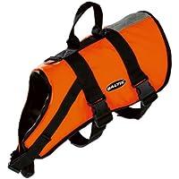 Baltic, Giubbotto salvagente per animali domestici, con chiusura a strappo e cintura, Arancione (Orange - orange), XXL (40+ kg)