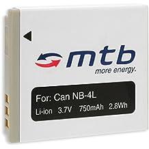 Batteria NB-4L per Canon IXUS 30, 40, 50, 55, 60, 65, 70, 75, 80 IS, 100 IS / IXY / Powershot... – vedi lista!