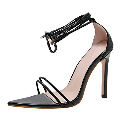Zilosconcy Sandalen Damen Sommer Frauen Casual Fashion Party Spitzschuh Roma Style Schuhe Sandale High Heels Sandaletten Absatz Pumps Römersandalen Keilabsatz Strandschuhe Riemchensandalen -