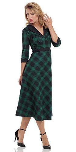 Voodoo Vixen -  Vestito  - Donna Verde-nero XL