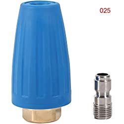 Buse À Turbine Rotative Pivotante À Haute Pression 3000PSI Accessoires Pour Pistolet De Nettoyage Haute Pression 1/4inch GPM 2.5-4.0 ( Taille : 2.5 )
