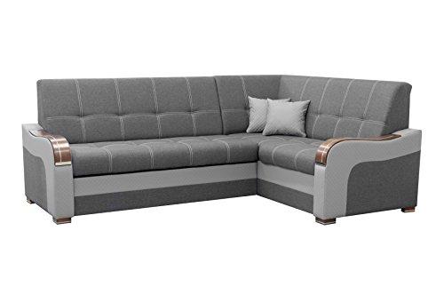 mb-moebel Ecksofa Eckcouch mit Bettkasten Sofa Couch L-Form Polsterecke Mekong (Ecksofa Rechts)
