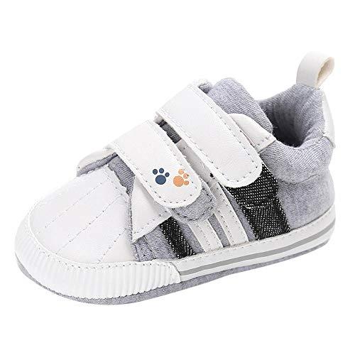 PinkLu Velcro Zapatos de Algodon Bebé recién Nacido Niñas bebés niños Zapatos de Cuna Suela Blanda...